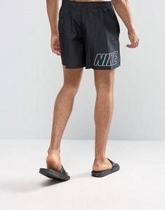 Черные шорты для плавания с принтом логотипа сзади Nike - Черный