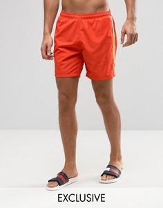 Оранжевые шорты для плавания BOSS By Hugo Boss Seabream - Оранжевый