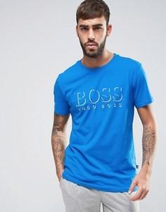 Синяя футболка стандартного кроя с логотипом BOSS By Hugo Boss - Синий