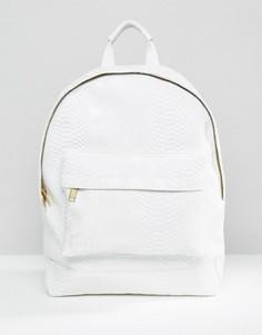 Белый рюкзак с узором под кожу питона Mi-Pac - Белый