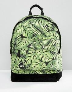 Рюкзак с зеленым принтом тропических листьев Mi-Pac - Зеленый