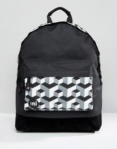 Черный рюкзак с принтом кубиков Mi-Pac - Черный