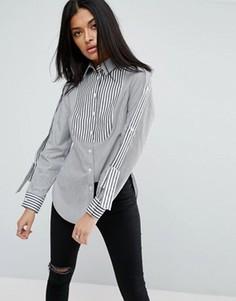 Рубашка в полоску с эполетами ASOS - Мульти