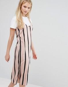 Платье-комбинация с футболкой Influence - Розовый