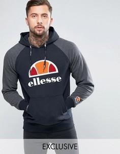 Худи с крупным логотипом и рукавами реглан Ellesse - Черный