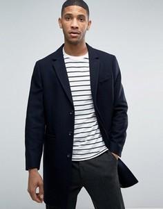 Шерстяное пальто Kiomi - Темно-синий