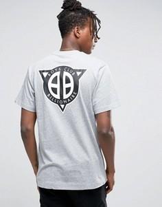 Футболка с логотипом на спине Billionaire Boys Club - Серый