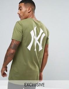 Длинная футболка Majestic New York Yankees эксклюзивно для ASOS - Зеленый