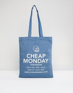 Джинсовая сумка-шоппер Cheap Monday - Синий