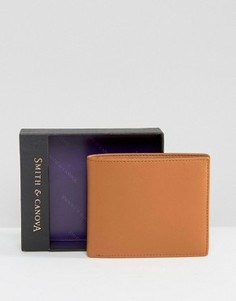 Классический кожаный бумажник Smith And Canova - Коричневый
