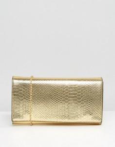 Клатч цвета металлик Yoki - Золотой