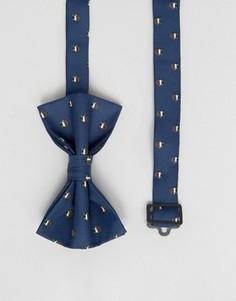 Рождественский галстук-бабочка ASOS - Темно-синий