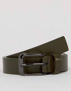 Кожаный ремень цвета хаки Smith And Canova - Черный