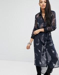 Платье-рубашка миди Religion Award - Черный