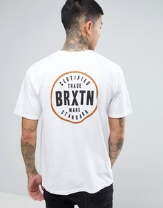 Футболка с принтом на спине Brixton Cowen - Белый