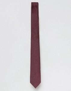 Бордовый узкий галстук ASOS - Красный
