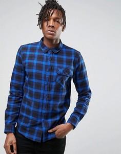 Синяя рубашка в клетку Another Influence - Синий