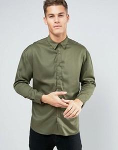 Oversize-рубашка из вискозы Another Influence - Зеленый