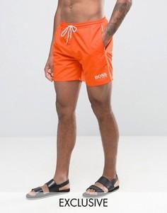 Оранжевые шорты для плавания эксклюзивно для BOSS By Hugo Boss Star Fish - Оранжевый