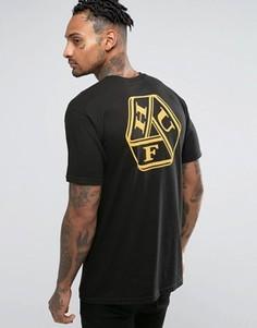 Футболка с принтом на спине HUF - Черный