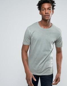 Длинная футболка с асимметричным краем Troy - Зеленый