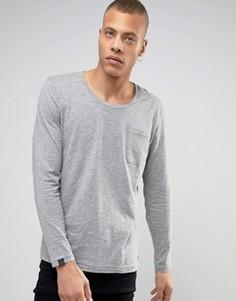 Лонгслив с карманом Produkt - Серый
