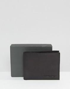 Черный кожаный бумажник Forbes & Lewis - Черный