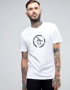 Узкая футболка с логотипом Original Penguin - Белый