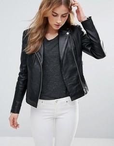 Стеганая кожаная куртка Muubaa - Черный