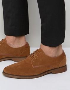 Светло-коричневые туфли из искусственной замши на шнуровке ASOS - Рыжий