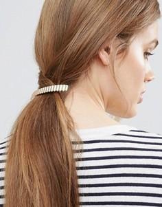 Заколка для волос с волнистой планкой ASOS - Золотой