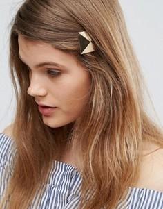 Заколка для волос с пирамидкой ASOS - Золотой