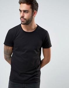 Черная футболка классического кроя с необработанным краем BOSS Orange by Hugo Boss - Черный