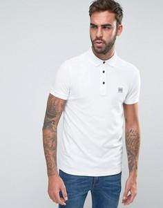 Белая футболка-поло узкого кроя BOSS Orange by Hugo Boss - Белый