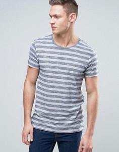 Меланжевая футболка в полоску Esprit - Темно-синий