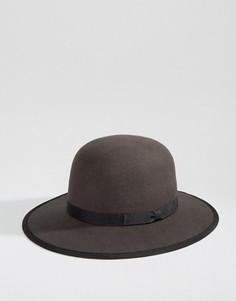 Шляпа с широкими полями Brixton Sonoma - Серый