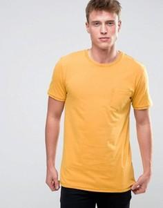 Футболка с карманом Esprit - Желтый