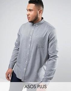 Серая оксфордская рубашка стандартного кроя ASOS PLUS - Серый