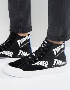 Высокие кроссовки с логотипом HUF x Thrasher - Черный