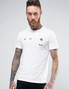 Белая узкая футболка PS by Paul Smith Target - Белый