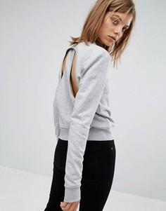 Свитшот с вырезом на спинке Cheap Monday - Серый