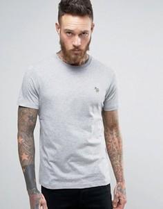 Серая меланжевая узкая футболка с логотипом PS by Paul Smith - Серый