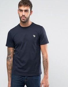 Темно-синяя узкая футболка с логотипом-зеброй PS by Paul Smith - Темно-синий