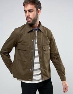 Куртка цвета хаки в стиле милитари PS by Paul Smith - Зеленый
