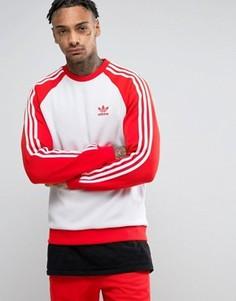 Красный свитшот с круглым вырезом adidas Originals Superstar BK5819 - Красный