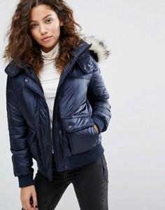 Дутая куртка Abercrombie & Fitch Core - Темно-синий