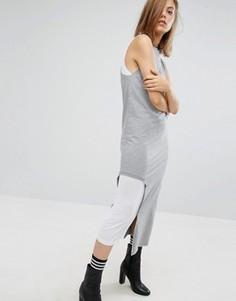 Платье с сетчатой вставкой Cheap Monday - Серый