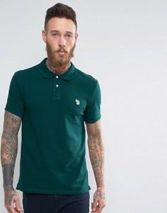 Зеленая футболка-поло узкого кроя с логотипом PS by Paul Smith Zebra - Зеленый