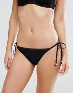 Трусики бикини с завязками по бокам Pour Moi Bora Bora - Черный