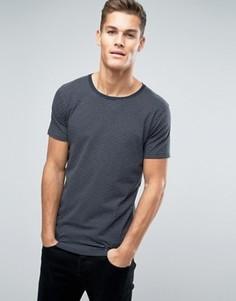 Серая меланжевая футболка в темно-синюю полоску Lindbergh - Серый